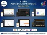 Crypto Admin Dashboard Template + Bitcoin Dashboards + ICO