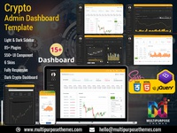 Cryptocurrency Dashboard Template + Bitcoin Dashboards + ICO
