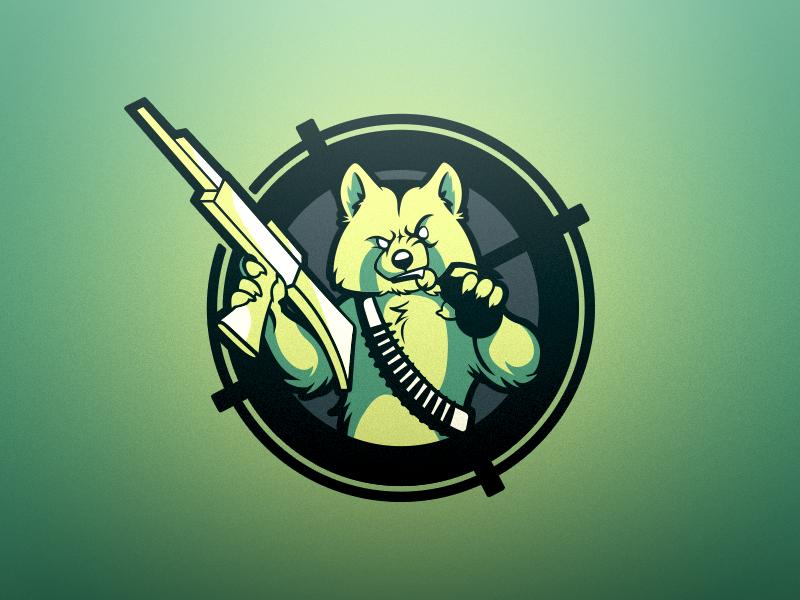 Pandamonium - Logo Design mascot branding logo sports gaming redpanda