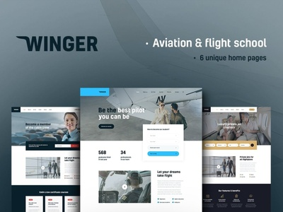 Winger - Aviation & Flight School WordPress Theme wordpress themes webdesign web design wordpress wordpress theme