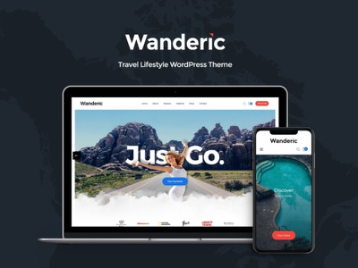 Wanderic - Travel Blog & Lifestyle WordPress Theme business blog wordpress themes webdesign web design wordpress wordpress theme