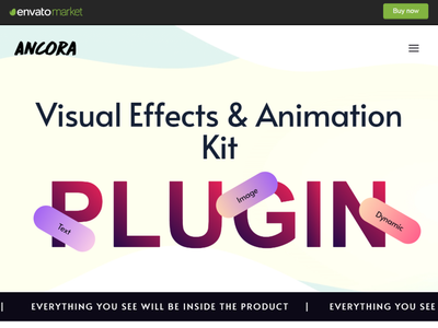 Visual Effects & Animation Kit for Elementor elementor pro animation kit animation design plugin elementor