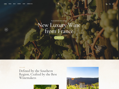 Chardonnay - Wine Store & Vineyard WordPress Theme blog logo illustration design business wordpress themes webdesign web design wordpress wordpress theme ui
