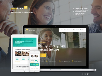 QuickLoans | Loan Company WordPress Theme wordpress theme wordpress small business loan finance corporate business advising accounting