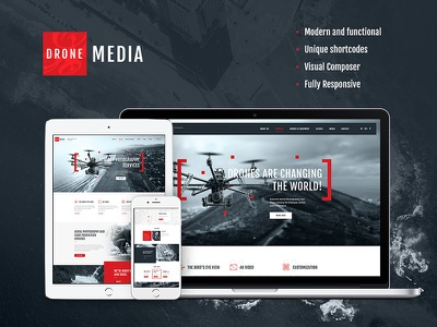 Drone Media | Aerial Photography & Videography wordpress theme quadcopter photography modern military media electronics drone photography aerial photography