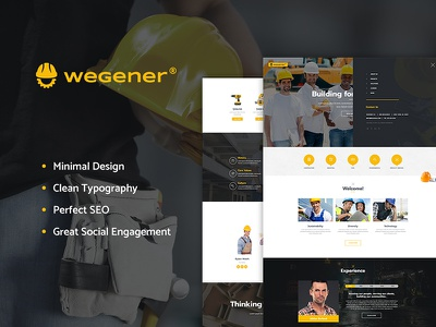 Wegener | Construction & Engineering WP Theme wordpress costruction wordpress theme wordpress theme visual composer service engineering engineer electrician construction business