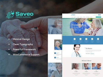 Saveo | In-home Care Agency WP Theme nursing home nurse medicine healthcare elderly care care assisted living webdesign web design wordpress theme wordpress