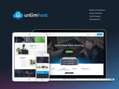 UnlimHost | Hosting & Technology WordPress Theme business website hosting hosting wordpress theme. host webdesign web design wordpress theme wordpress