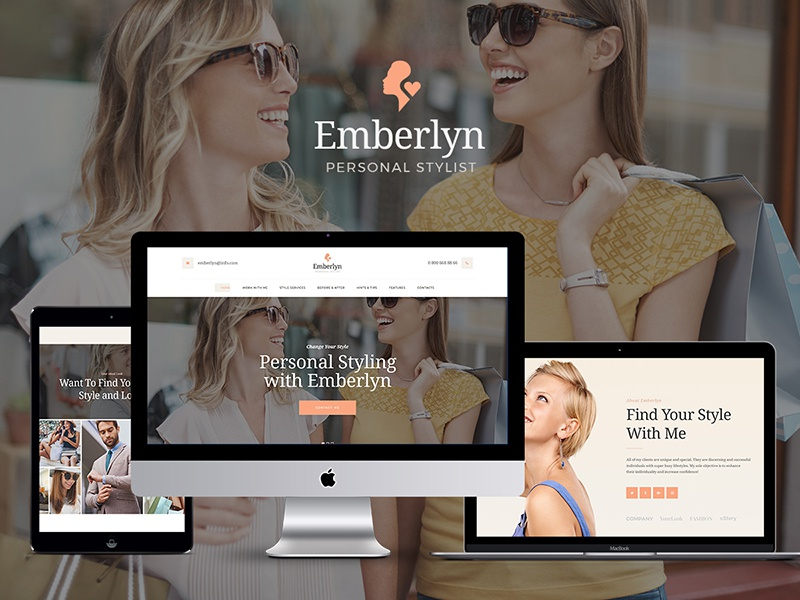Emberlyn | Personal Stylist WordPress Theme by Ancora Themes - Dribbble