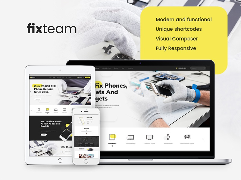 FixTeam | Electronics Repair WordPress Theme by Ancora