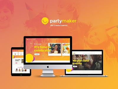 PartyMaker   Event Planner WordPress Theme corporates birthday banquet anniversary event planner website theme website theme web development webdesign web design wordpress wordpress theme event planner wordpress theme