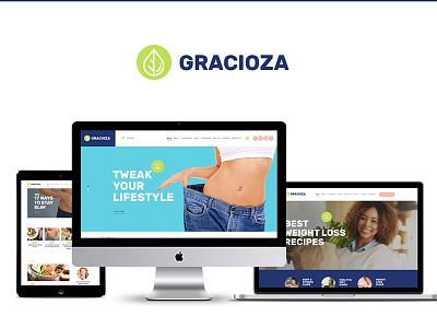 Gracioza   Weight Loss Blog WordPress Theme healthy living food blog fitness blogger blog wordpress blog wordpress theme wordpress theme weight loss blog weight loss blog wordpress theme