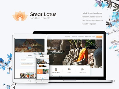 Great Lotus | Buddhist Temple WordPress Theme