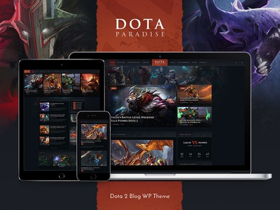 Dota Paradise | Gaming Blog & Store WP Theme