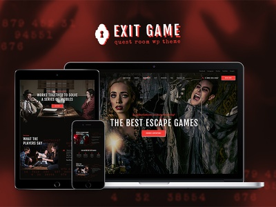 Exit Game   Real-Life Room Escape WordPress Theme entertainment corporate event booking birthday party adventure game escape room wordpress theme quest room wordpress theme