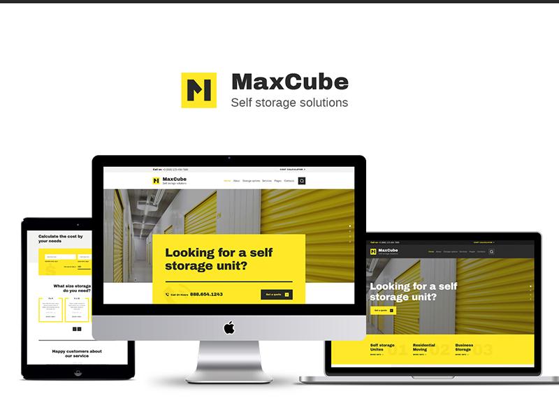 MaxCube | Self Storage Business WordPress Theme business wordpress theme self storage wordpress theme