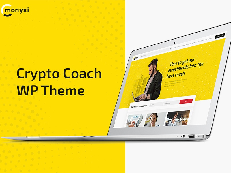Monyxi | Cryptocurrency Trading Business Coach WordPress Theme crypto coach crypto blog business trading wordpress theme blockchain bitcoin wordpress theme cryptocurrency wordpress theme