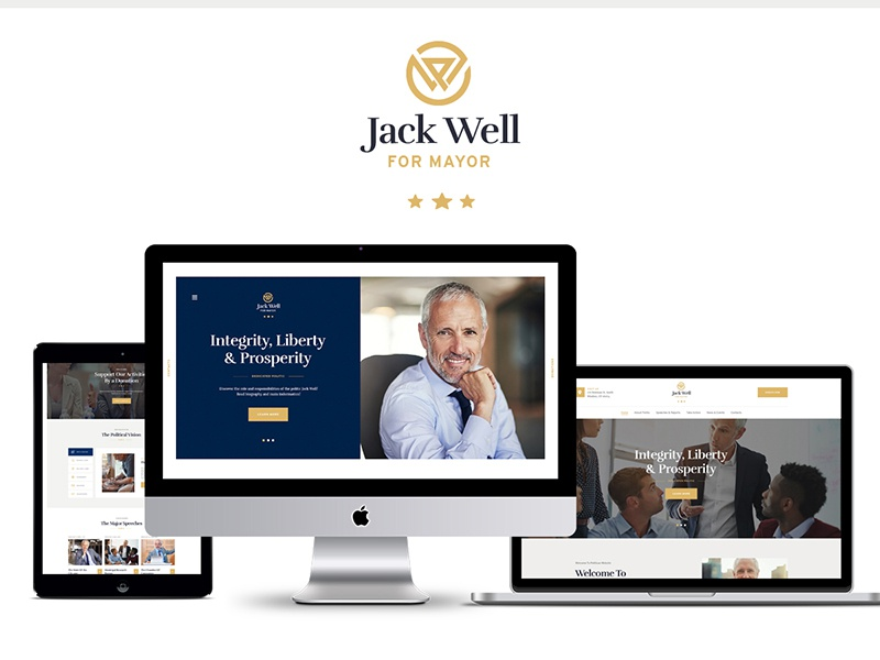 Jack Well   Elections Campaign & Political WordPress Theme party non-profit ngo government elections wordpress theme democratic debate candidate campaign activist political wordpress theme