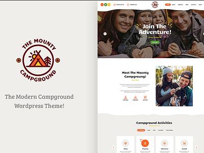 The Mounty   Campground & Camping WordPress Theme webdesign wordpress wordpress theme camping wordpress theme