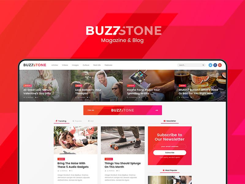 Buzz Stone - Magazine & Viral Blog WordPress Theme viral magazine viral lists viral content viral blog store social sharing shop sharing review rating newspaper lifestyle fashion