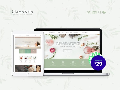 Handmade Organic Soap & Natural Cosmetics Shop WordPress Theme wordpress theme cosmetics shop wordpress theme organic soap wordpress theme