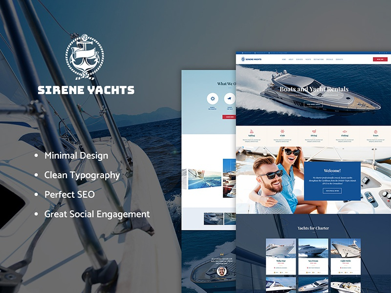 Sirene | Yacht Charter Services & Boat Rental WordPress Theme wordpress design wordpress themes wordpress theme boat rental wordpress theme yacht rental wordpress theme yacht wordpress theme yacht charter wordpress theme