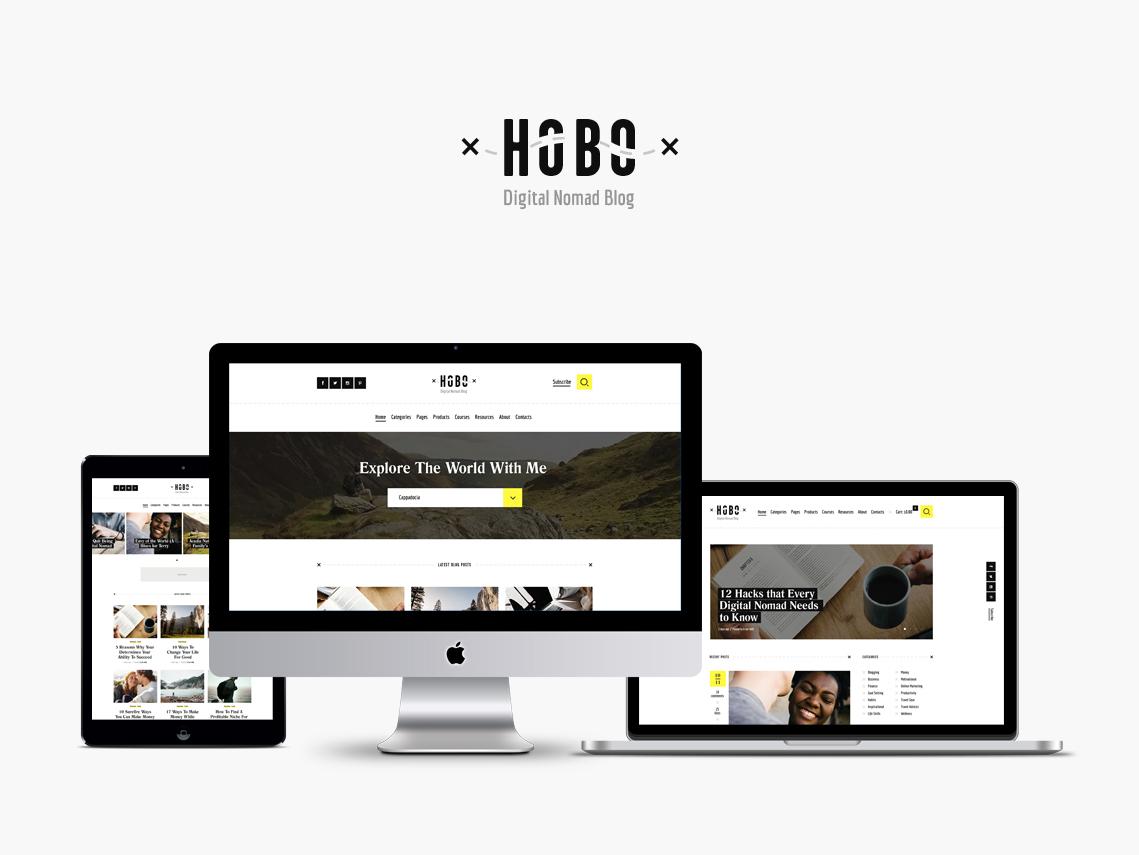Hobo   Digital Nomad Lifestyle Blog WordPress Theme wordpress themes wordpress blog wordpress theme blog wordpress theme lifestyle blog wordpress theme