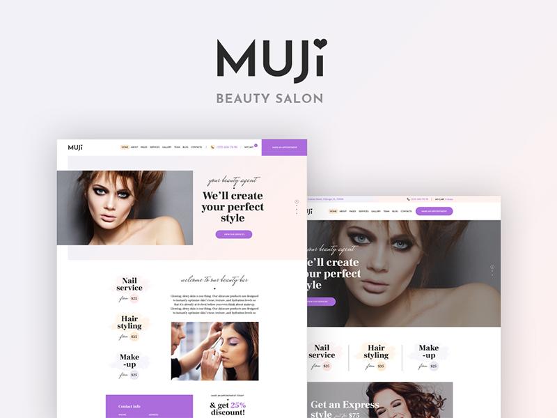 Muji - Beauty Shop and Spa Salon WordPress Theme spa wordpress theme beauty salon wordpress theme beauty shop wordpress theme beauty  wordpress theme spa salon wordpress theme