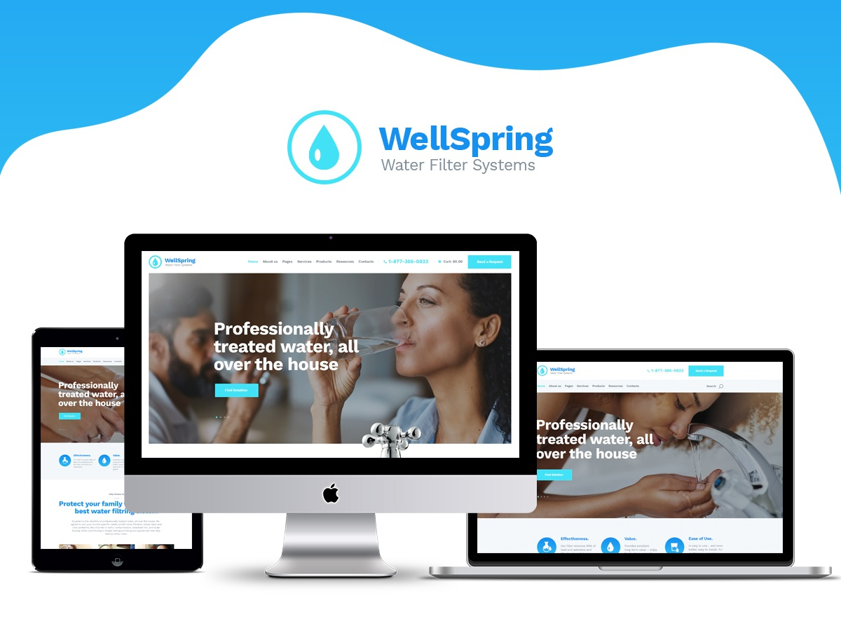 WellSpring | Water Filters & Drinking Water Delivery WP Theme e-commerce blog blogging webdesign wordpress themes business web design wordpress wordpress theme