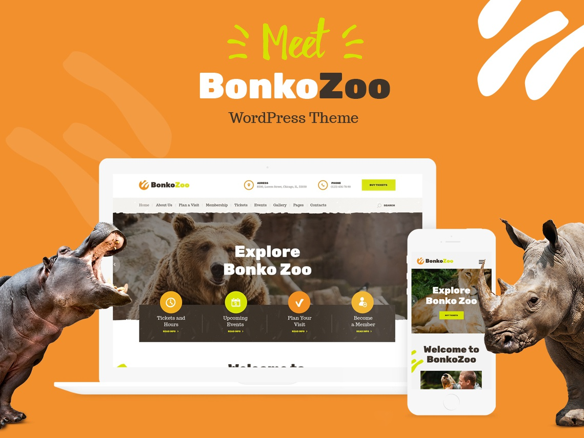 Bonko | Safari & Zoo WordPress Theme design webdesign wordpress themes wordpress web design wordpress theme