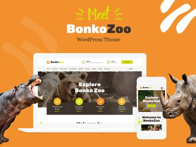 Bonko | Safari & Zoo WordPress Theme design webdesign wordpress themes wordpress web design wordpress theme