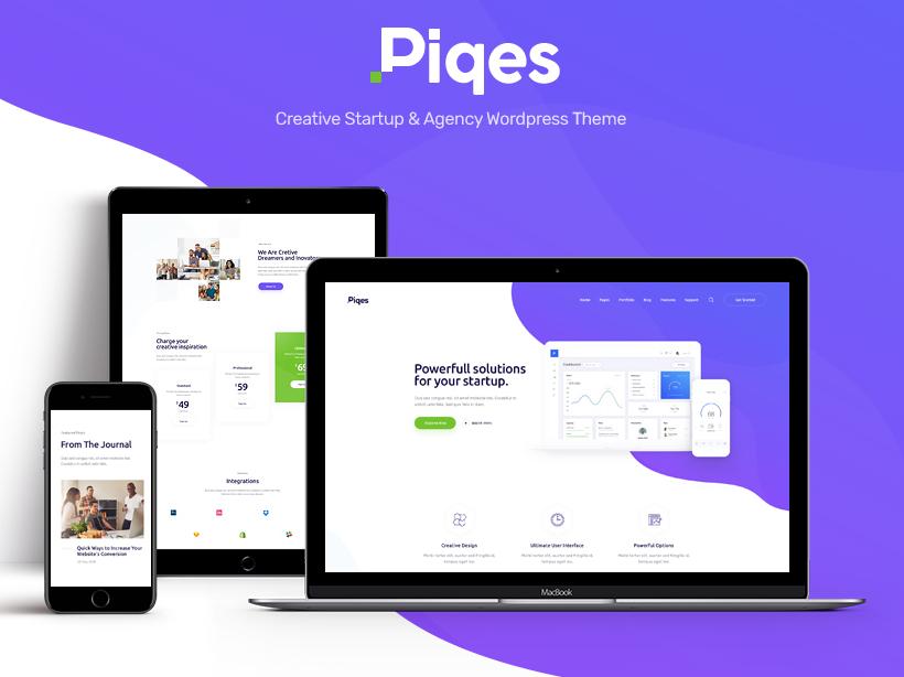 Piqes | Creative Startup & Agency WordPress Theme business wordpress themes webdesign web design wordpress wordpress theme