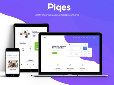 Piqes | Creative Startup & Agency WordPress Theme business wordpress themes webdesign web design wordpress wordpress theme