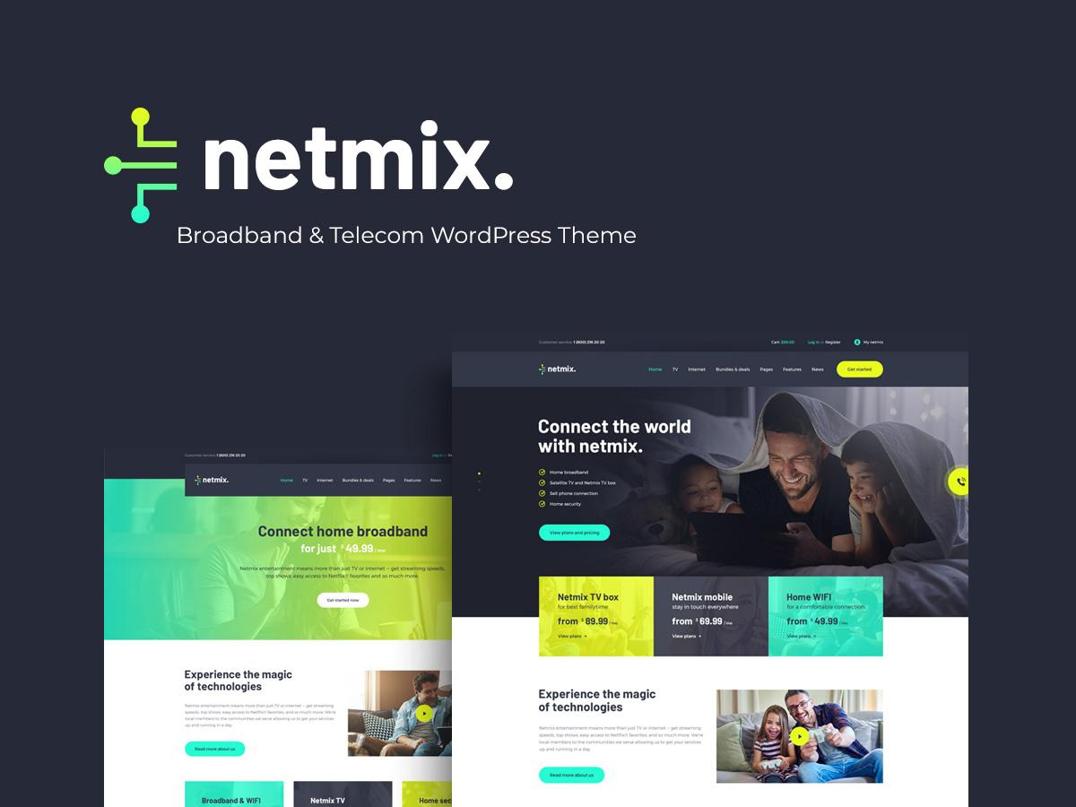 Netmix | Broadband & Telecom WordPress Theme design business wordpress themes webdesign web design wordpress wordpress theme