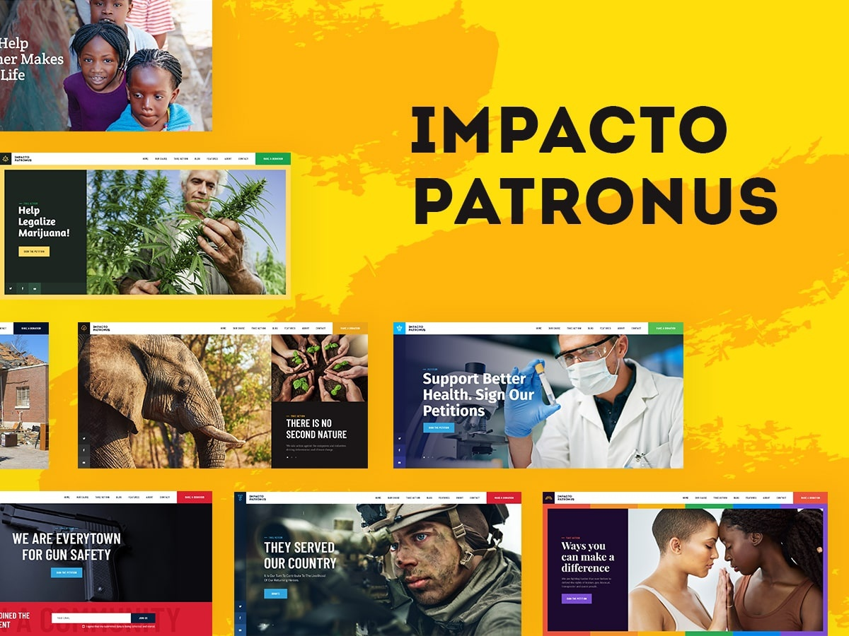 Impacto Patronus | Petitions & Social Activism WordPress Theme e-commerce wordpress themes webdesign web design wordpress wordpress theme