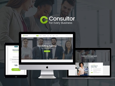 Consultor | A Business Financial Advisor PSD Template web design design business wordpress themes webdesign wordpress wordpress theme