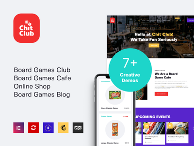 Chit Club | Board Games WordPress Theme design blogging blog e-commerce business wordpress themes webdesign wordpress theme