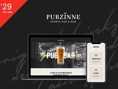 Pubzinne - Sports Bar WordPress Theme blog wordpress design wordpress blog woocommerce webdesign web development web design wordpress themes wordpress wordpress theme