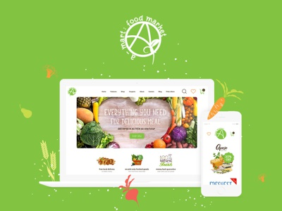 A-Mart - Organic Products Shop WordPress Theme webdesign web development web design elementor woocommerce wordpress themes wordpress wordpress theme