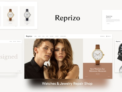 Reprizo - Jewelry & Watch Shop WordPress Theme wordpress design wordpress blog woocommerce webdesign web development web design wordpress themes wordpress wordpress theme