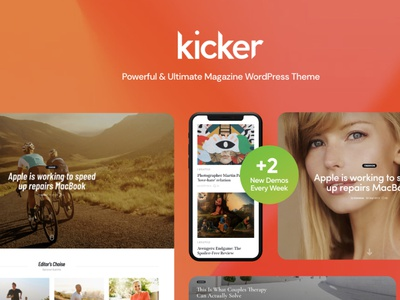 Kicker - Multipurpose Blog Magazine WordPress Theme webdesign blog booking blog wordpress theme wordpress blog web development web design wordpress themes wordpress wordpress theme