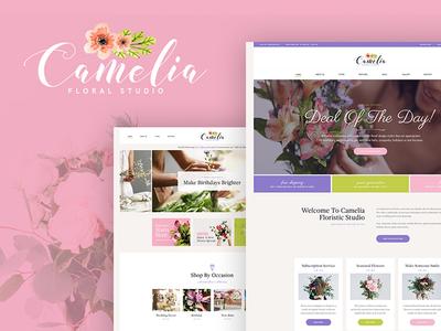 Camelia   Floral Studio WordPress Theme