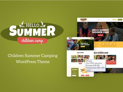 Hello Summer | Children's Camp WordPress Theme kids gallery education childrens camp camping booking backpacking appointments web design wordpress wordpress theme childrens camp wordpress theme