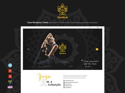 Tantra   Yoga Studio and Fitness Club WordPress Theme
