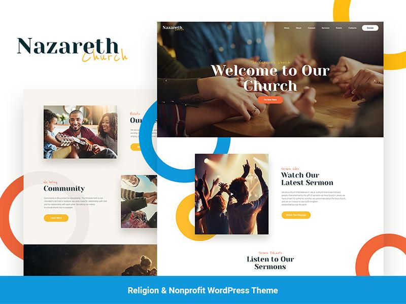 Nazareth   Church & Religion WordPress Theme wordpress templates wordpress template wordpress themes religion wordpress theme church wordpress theme