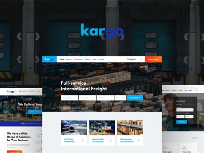 Kargo | Logistics & Transportation WordPress Theme design ui blog wordpress theme wordpress design wordpress blog web development webdesign wordpress theme wordpress wordpress themes web design elementor woocommerce logo