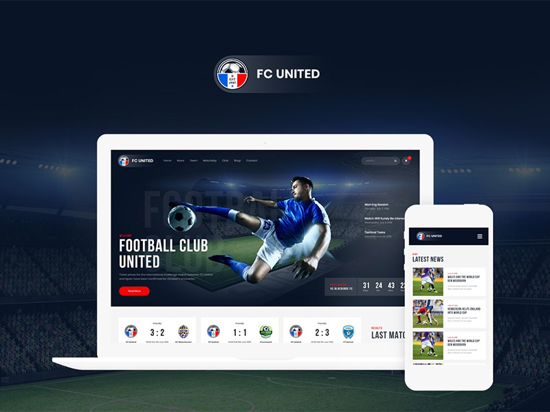 FC United | Football, Soccer WordPress Sports Theme wordpress design woocommerce web development web design webdesign wordpress wordpress themes wordpress theme