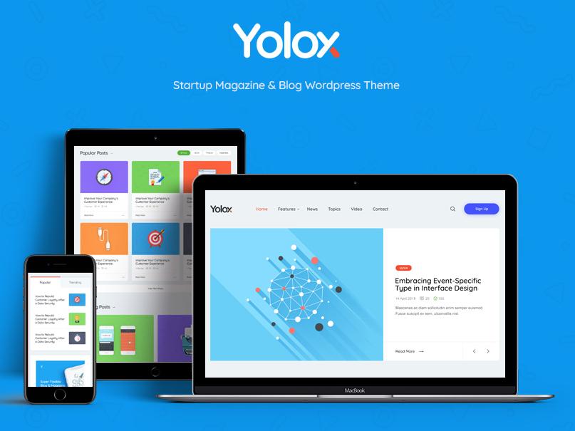 Yolox   Modern WordPress Blog Theme for Business & Startup webdesign wordpress blog wordpress design blog blog wordpress theme web development web design wordpress themes wordpress wordpress theme