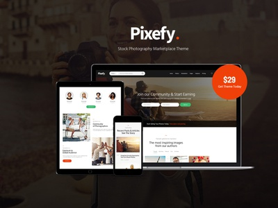 Pixefy - Stock Photography Marketplace Theme