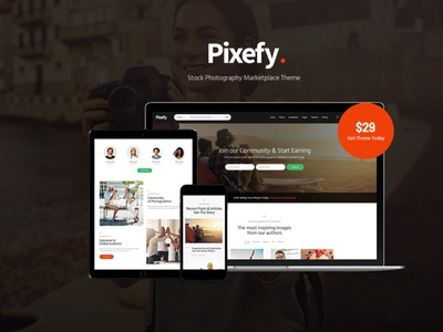 Pixefy - Stock Photography Marketplace Theme wordpress design wordpress blog woocommerce webdesign web development web design wordpress themes wordpress wordpress theme